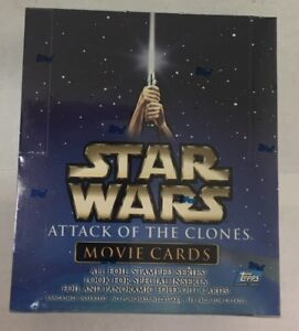 Topps Star Wars Attack of the Clones Movie Cards Factory Sealed Box