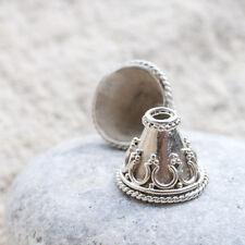 Hecho a mano plata esterlina 925 casquillos de grano de Bali para la fabricación de joyas