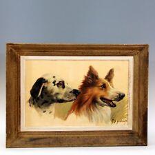 Alfred Schollaert (1905-1987) ◊ Deux chiens Peinture à l'huile sur toile signée