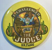 Six Flags Over Texas Pin I Challenged The Judge Roy Scream Roller Coaster Tx
