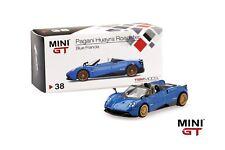 Pagani Huayra Roadster Blue Francia Mini Gt True Scale Miniat.1:64 MGT00038-R
