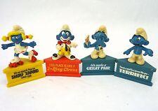 Lot 4 SMURF-A-GRAM Vintage 80s Shleich Peyo SMURFS Miniature Figures PVC