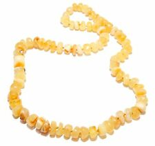 Genuine Baltic Amber Necklace for Adult Butter 49 cm
