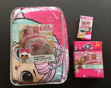 NWT LOL Surprise Glitterful Twin Comforter Sheets & Pillow Case Bedding Set