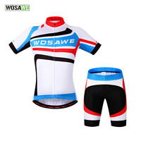 Mens Cycling Bike Bicycle Wear Short Sleeve Sports Jersey 4D Padded Shorts Pants