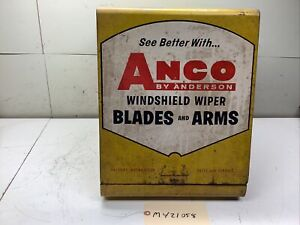 VINTAGE ANCO BY ANDERSON WINDSHIELD WIPER BLADE & ARM DISPLAY CABINET