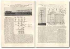 1927 The Jeanne-rose 120,000 Volt Outdoor Sub-station, Le Creusot