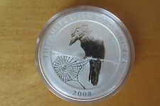 One 2008 Australia 1 oz Silver Kookaburra Coin Round