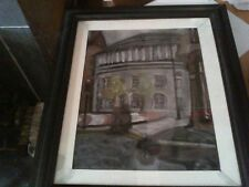 Original Pastel Painting of Manchester's Central Library Free postage