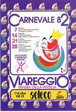 VIAREGGIO.CARNEVALE 1982.SERIE COMPLETA ANNULLI POSTALI