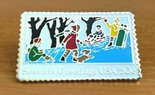 Season`s Greetings Usa 20c Pin