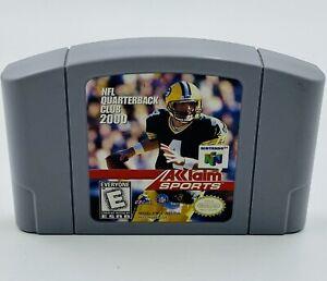 NFL Quarterback Club 2000 N64 Nintendo 64 Brett Favre Packers Authentic