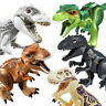 Jurassic Park World Dinosaur Figure Blocks T-Rex Rex Minifigures Toys Fit Lego