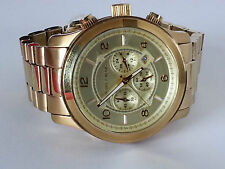 Michael Kors Armbanduhr Uhr MK-8077 - mit neuer Batterie - goldfarben -