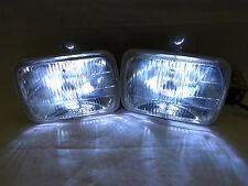 7X6 H6054 CLEAR SQUARE DOT HEADLIGHT HEAD LIGHT+H4 6000K HID+THIN BALLAST