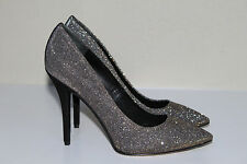 sz 6.5 New B Brian Atwood Desire Sparkly Pointed toe Suede Heel Pump Shoes