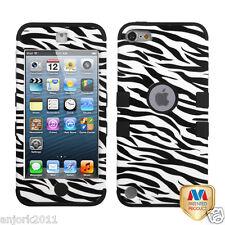 Apple iPod Touch 5 T ARMOR HYBRID CASE SKIN COVER ACCESSORY ZEBRA BLACK/WHITE