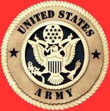 United States US Army, Retired, Veteran or Vietnam Veteran Birch Wall Plaque