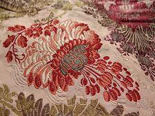 "Antique 19th French Silk Taffeta Brocade HAMOT Lyon Fabric 57""x 51"""