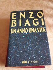 Un anno una vita - Enzo Biagi - Rizzoli 1992 Prima edizione
