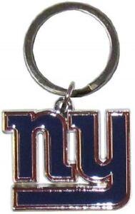 New York Giants NFL Metal Chrome Logo Cut Keychain Car Auto