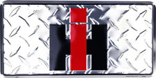 IH International Trucking Harvester Logo License Plate Tag for Car-Truck Front