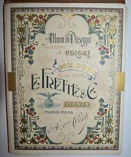 DISEGNI PER RICAMO - figur. 1898 - FRETTE - casa di moda - 22 tavole a colori