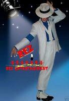 Michael Jackson Smooth Criminal White Fedora Hat