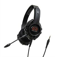 Ps5 Wired Headset Detachable Boom Mic 3.5mm TRRS Audio Gaming Headphone