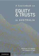 NEW A Sourcebook on Equity and Trusts in Australia by Michael Bryan