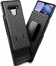 Lg K51 Belt Clip Holster Combo Armor Slim Cell Phone Case With Kick Stand Cover