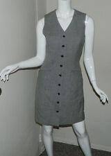Women 100% Wool Ann Taylor Multi-Color Casual Work Sleeveless Dress Size 4