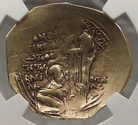 Andronicus II, Palaeologus Jesus Christ 1282AD NGC VF Byzantine Gold Coin i57694