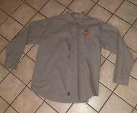 Leinenkugels Beer Brewing Company-Red Button down employee Work Shirt Men's XL