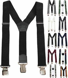 Hosenträger Damen Herren 35mm breit Motorrad Y-Form XXL 3 Clips extra stark 111