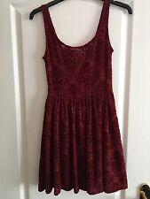 Miss Selfridge Petite Velvet Red Dress - Size 6