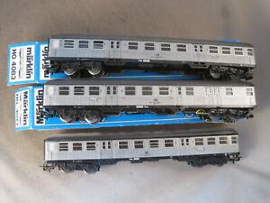 Märklin  H0 4082  + 4083 + 4077 Silberlinge samt Steuerwagen  zum Spielen