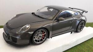 PORSCHE 911 GT3 2013 street gris métal 1/18 MINICHAMPS 110 062720 voiture miniat