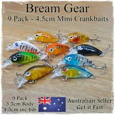 3.5cm Bream & Redfin Fishing Lures Bass, Trout, Perch, Flathead, Whiting Crank
