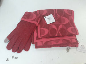 Coach Scarf and Gloves,New