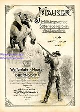 Mauser gun factory XL 1916 ad big game hunting & military rifles elephant safari