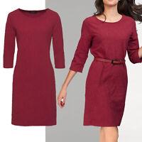 tolles zeitloses Kleid Gr.48 Jerseykleid Kleines ROTES Struktur Stretch ROT
