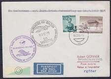 Österreich MiF Lupo Luftpost Brief Bork Brück Gedenkflug 1962, Wien - Brück
