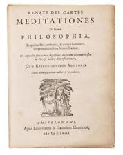 DESCARTES, RENÉ. Meditationes de prima philosophia. 1663 Lot 99