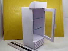 1:12 Scale White Painted Single Door Display Cooler Dolls House Miniature Shop