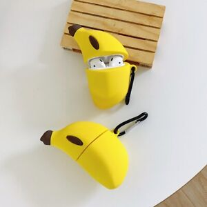 Funny Banana Silicone Earphone Case For Apple Airpods 1 2 Pro Full Cover Protect