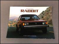 1984 VW Volkswagen Rabbit GTI and convertible 20-page Car Sales Brochure Catalog