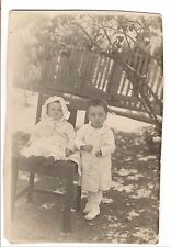 RPPC DOUR SOUR Children LAZY EYE Vintage Real Photo Postcard Post Card 1907-1920