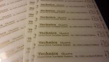 Adesivi Technics SL-1200 Limited Edition - ORO, spessore 3 micron