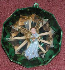 4 Vintage Old Hard Plastic Jewelbrite Decor Christmas Ornaments Angels BOXED!